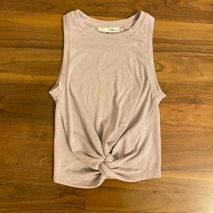 Aritzia Lilac Tie Up Tank Top